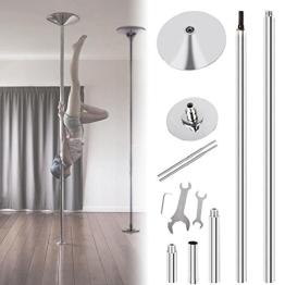 MVPower®Profi 45MM Pole Dance Tanzstange Stange Edelstahl Static Spining Stabil - 1